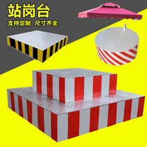 Security double-decker traffic command station guard community property circular safety reflective station guard parasol station