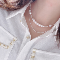 Yumin Korea Dongdaemun earrings necklace Female adorable necklace clavicle chain lentil chain ins wind stack wear