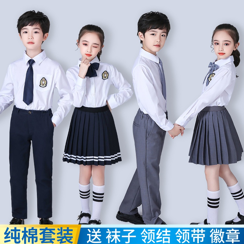 Childrens costumes Primary and secondary school choir Male and female poetry recitation performance costumes Kindergarten class uniform School uniform