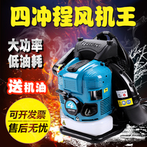 Four-stroke snow blower high-power 揹 negative gasoline hair dryer deciduous site fire-fighting wind blower
