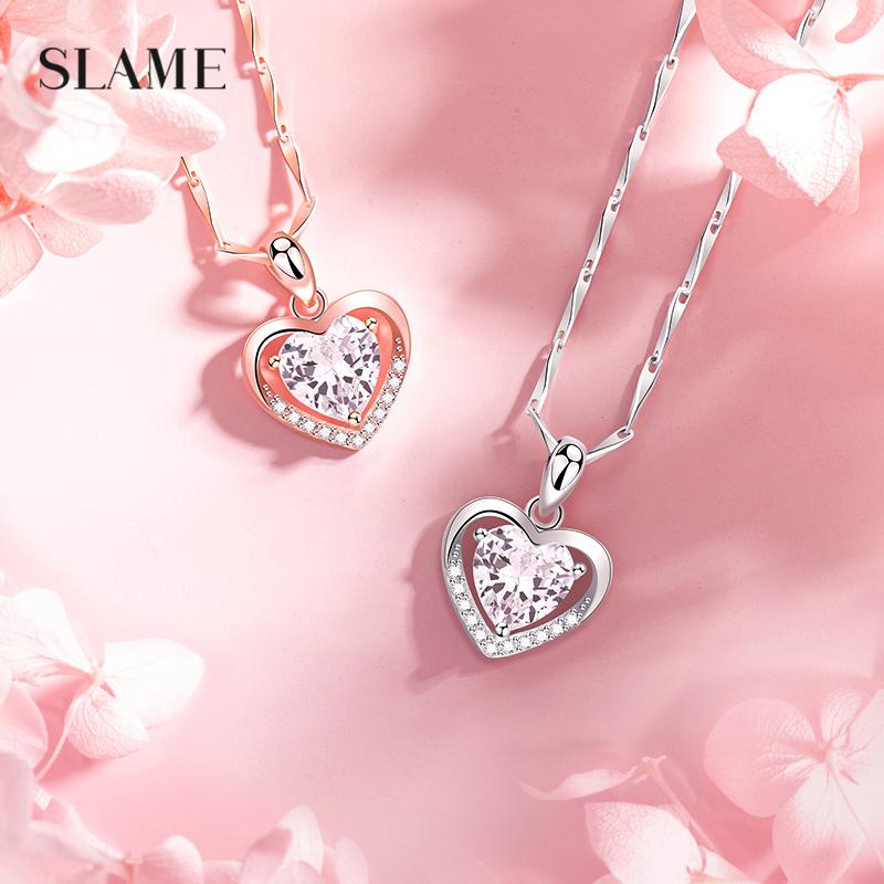999 collier en argent sterling collier collier femme chaîne de clavicule cadeau d'anniversaire à la petite amie cadeau pendentif coeur éternel 2021 nouveau modèle