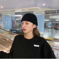 2020秋冬新款韩版学生复古百搭保暖短款毛线男女瓜皮帽针织帽冷帽