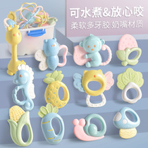 Newborn bite gum hand bell baby puzzle toys 0-1 years old newborn 0-3 baby 6-12 months male girl