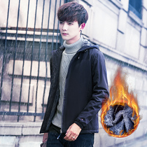 Korean youth movement handsome and wool in winter padded coat