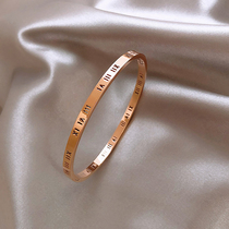 Summer bracelet ins niche design exquisite cold wind Sterling silver simple light luxury high-end accessories hand ornament female girlfriends