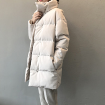 Shengbian autumn and winter warm thick cotton-padded clothes women long loose bread clothes slim temperament cotton coat Women Senior