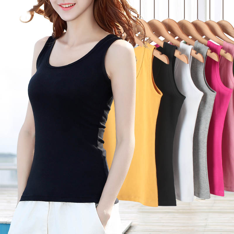 Black large inside wearing bottom sleeveless top white workman sling small vest inside the woman with short summer wear tide