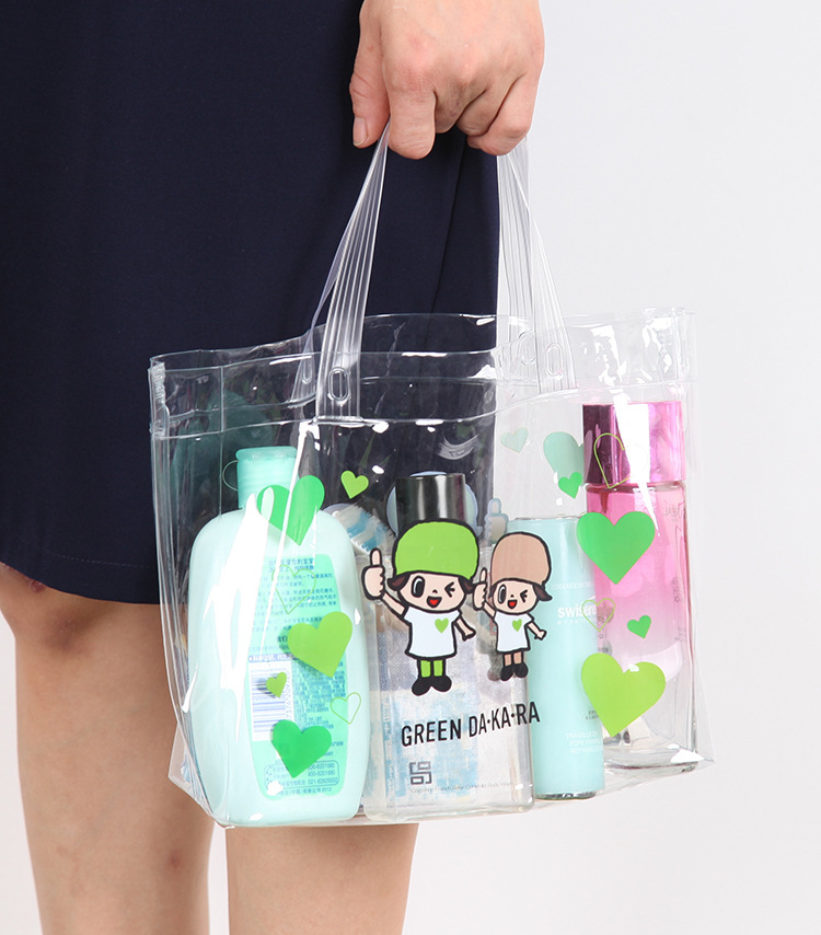 [The goods stop production and no stock]Cartoon waterproof handbag bag wash bag bath package bathing suit pvc soft rubber seaside resort spare