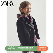 ZARA новая детская одежда для девочек весна и лето новая двухсторонняя байкерская куртка 04341601800