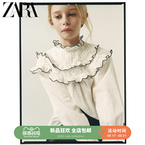 ZARA new childrens clothing girls spring and summer new hit color ji line blouse 07200600251