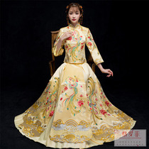 Vibrato with the same section show the bride 2018 new wedding costumes marry dress Fengong Chinese dress