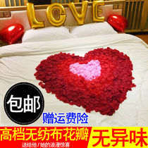 Simulation rose petals ask for marriage confession Christmas decoration Valentines Day men and women create romantic layout fake petals