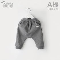 Childrens pants spring and autumn models of boys and girls autumn pants one year old baby casual pants outside wear tide models of baby big pp pants