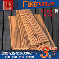 Anticorrosive Wood carbide Plank carbonized wood fire wood anticorrosive wood exterior wall board ceiling wall head Plank
