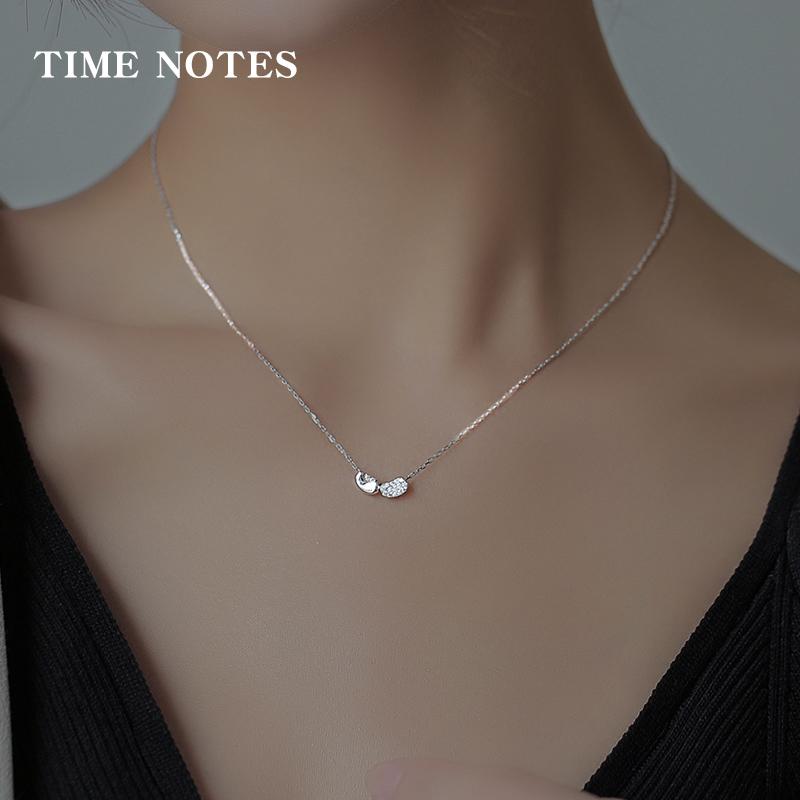 Collier argent pur chaîne de clavicule femelle amour pendentif fille simple ins tempérament sept nuits bijou cadeau d'anniversaire