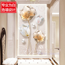 Art Glass Xuan Guan Modern simple screen shoe cabinet partition restaurant background wall wardrobe move door double-sided scrub