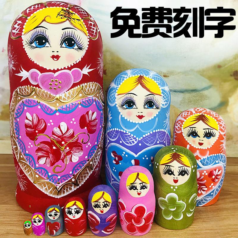 Caractéristiques russes ensemble de 10 couches de bois cadeau de vacances créatif vent chinois vendu un autre 15 couches de jouets de dégagement