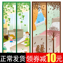 Anti-mosquito curtain magnetic screen door Summer Screen flies ventilation home bedroom partition curtains free punch Velcro