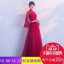 Fashion red and thin winter wedding clothes