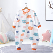 Baby sleeping bag summer thin children anti kick artifact all cotton gauze spring and autumn thin baby four seasons