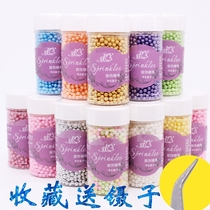 Baked Cake decorative colored needle sugar bead cup cake ice cream decorative colored silver beads white pearl sugar beads