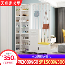 Nordic entrance door Xuanguan cabinet modern simple living room double-sided partition shoe cabinet room screen decoration rack wine cabinet