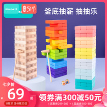 Chime birch stack stacking high stack music kettle bottom draw brick parent-child tabletop childrens game adult toys.