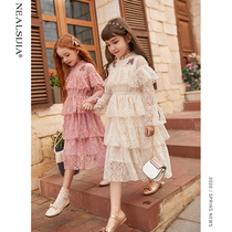 Girls dress 2020 new spring and Autumn Fashion spring childrens childrens clothing in the Big childrens princess dress little girl skirt