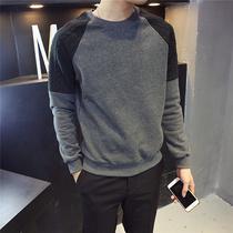 Гонконгская осень и зима мужская круглая шея толстовка 2019 новая молодежная нижняя рубашка корейская мода с длинным рукавом футболка прилив