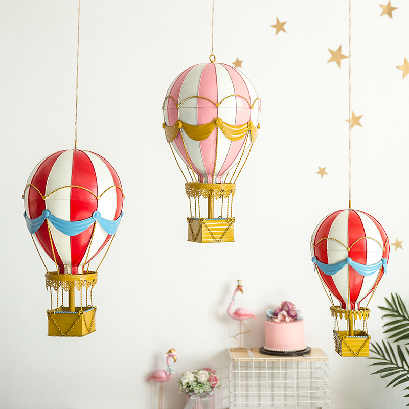 Creative kindergarten classroom environment hanging girls room ceiling hot-air balloon pink decoration hanging
