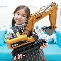 Oversized alloy remote-controlled excavator electric large-scale engineering car boy excavator childrens toys can not sit