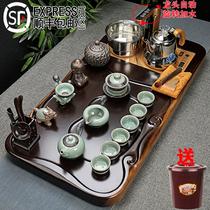 茶具套装黑檀实木茶盘茶台紫砂整套功夫茶杯套装全自动一体家用