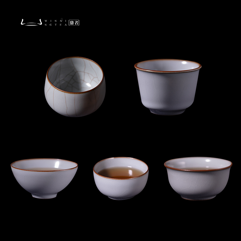 Porcelain Ding ceramic Zen cup tea set kiln handmade cup kung fu tea master cup home single cup of raw mine new