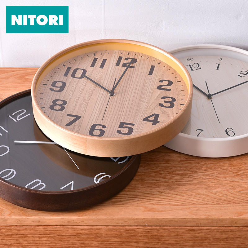 NITORI Nidal Clock in Japan Bruce Living Room Household Creative Circular Clock