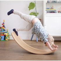 Nordic wooden children balance curved board seesaw fitness board balance board yoga board exercise balance exercise