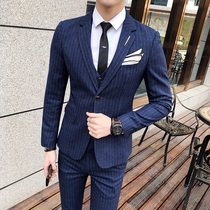 Mens self-cultivation Korean version of the Four Seasons youth British style suit suit