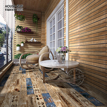 American country imitation wood grain antique brick balcony bathroom sunshine room wall brick culture stone courtyard floor tiles 300600