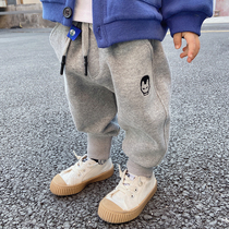 Baby pants spring and autumn mens health pants Pure cotton 1-6 years old childrens sports pants Childrens autumn trousers Boys casual pants