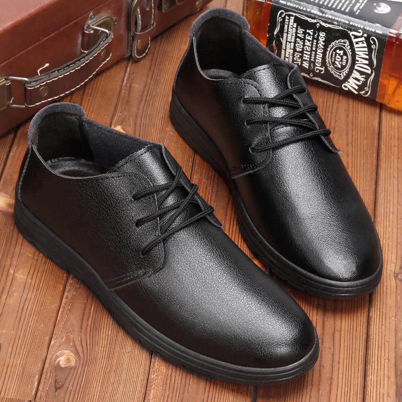 Giày da nam, đế mềm giúp chân thoải mái, phong cách tối giản, phù hợp với người làm trong doanh nghiệp