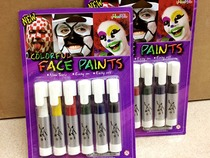 Crazy World Cup fans makeup pen paint pigment paint face color set cheerleader painted pen 6 pack