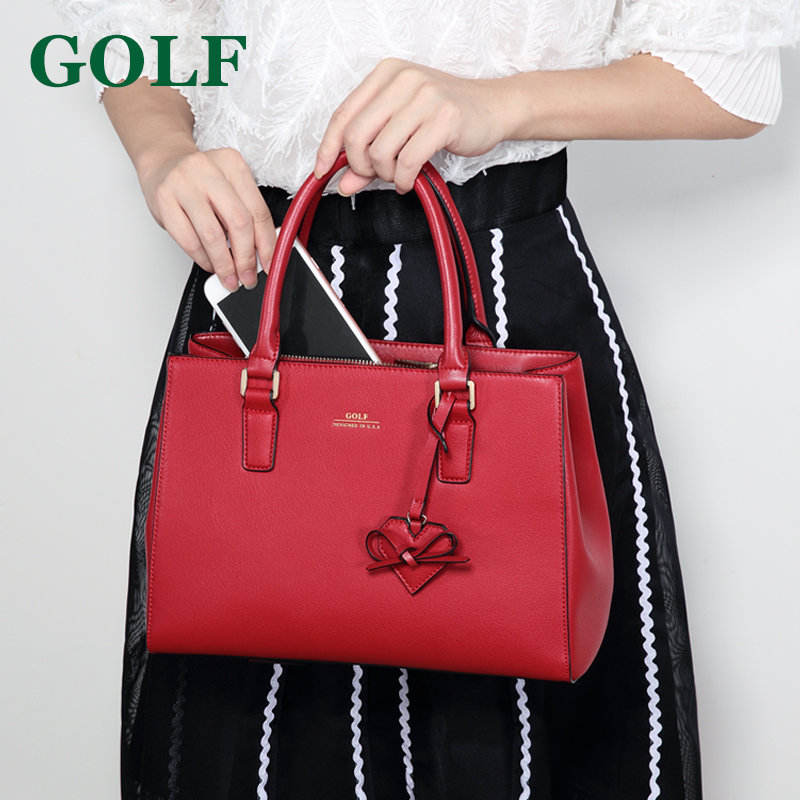 Autumn and summer women's bag leather wings bag wedding handbag female red bride bag wild Korean version of the slung shoulder bag