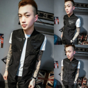 A new spring thin vest with a deft Reds male psychiatric social slim collar vest with a couple of small