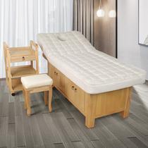 En bois massif lit de beauté lit de massage lit de massage salon de beauté dédié corps traitement de tatouage pliage maison latex