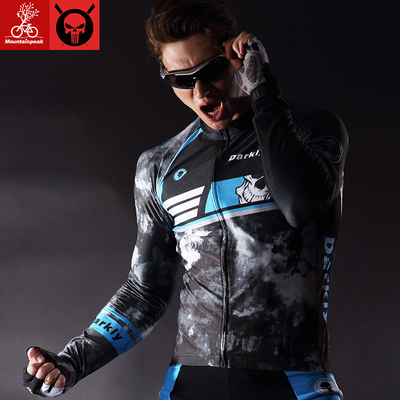 MTP 2017 new spring and summer dark long-sleeved Jersey suit men and women bicycle clothing cycling pants trousers