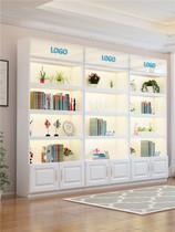 Cosmétiques vitrine vitrine clou étagère marchandises cadeau produits vitrine en verre Salon de beauté