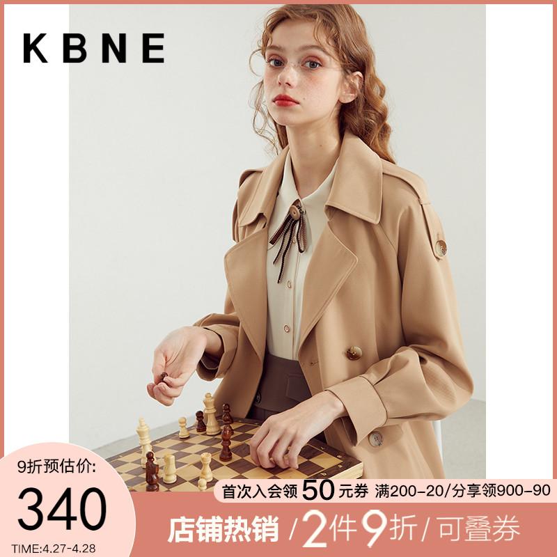 windbreaker coat female spring and autumn 2021 new spring models medium-long small kbne popular womens clothing thin coat tide