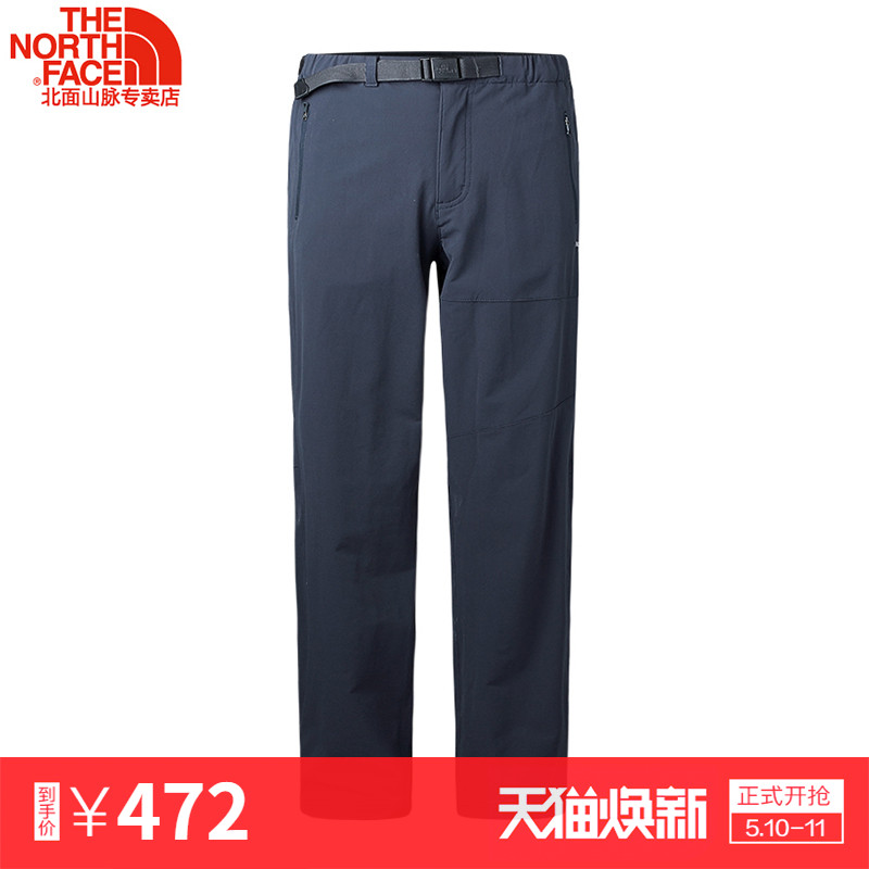 Spring and summer new TheNorthFace / North men's comfortable breathable outdoor splash-proof casual pants 2RGS