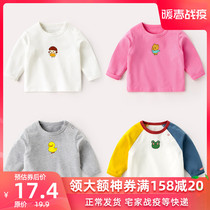 Baby t-shirt spring autumn long-sleeved shirt baby spring shirt children spring female cotton clothes male T-shirt