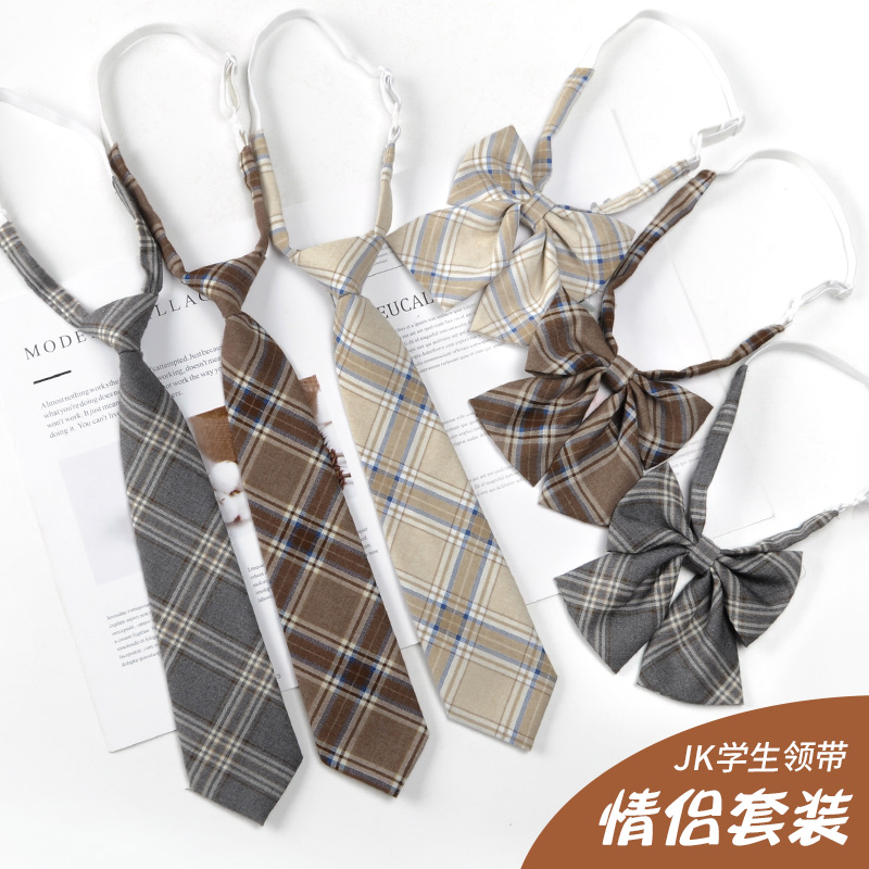 JK tie suit male and female students ins small tie Japanese college style shirt bow tie bow tie lazy collar flower