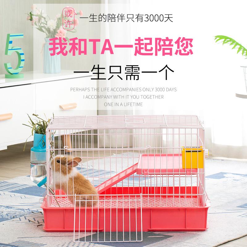 Двухслойная клетка кролика клетка дома с голландскими свиньями домашних животных клетки анти-распыления мочи очень большой культивируемой клетке автоматической очистки навоза